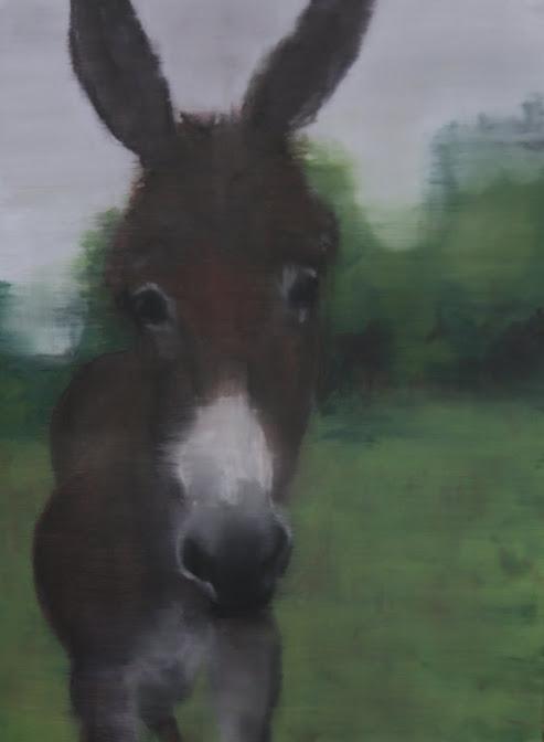 Mon âne - Décembre 2010 - Huile sur carton - 70 x 50 cm